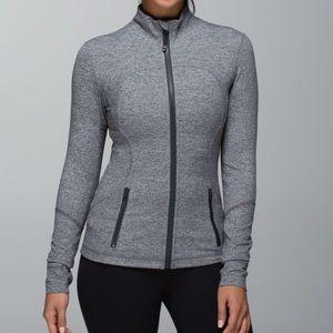 Lulu🍋 Grey Forme Jacket Heathered Deep Coal sz 6